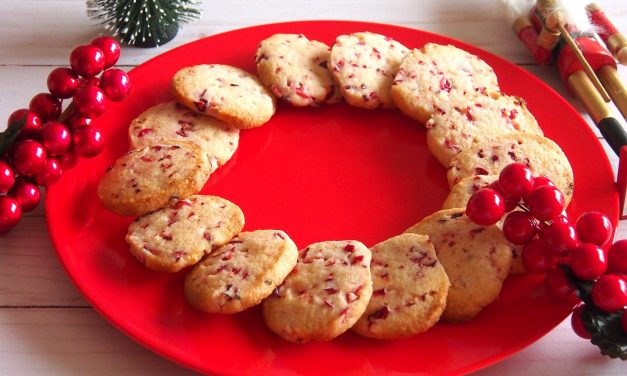 Fresh Cranberry Shortbread Cookies